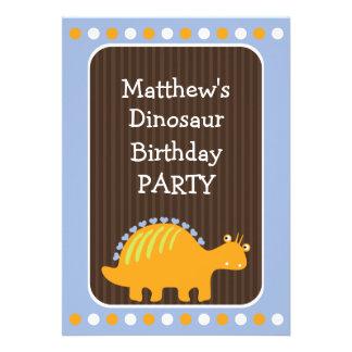 Pontos e festa de aniversário do dinossauro dos co