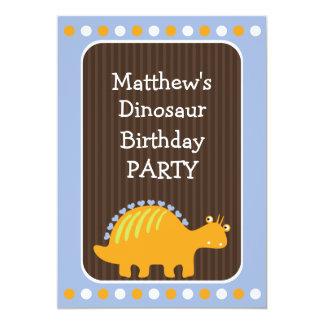 Pontos e festa de aniversário do dinossauro dos convite 12.7 x 17.78cm