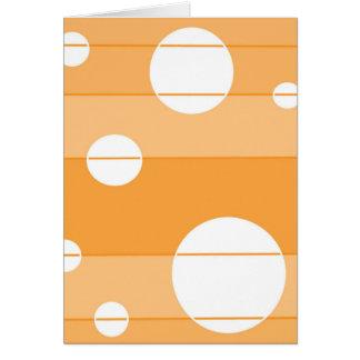 Pontos e listras em YellowOrange Cartão Comemorativo