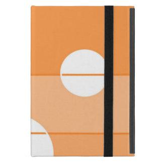 Pontos e listras na laranja capa iPad mini