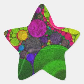 Pontos enormes abstratos fluorescentes adesito estrela
