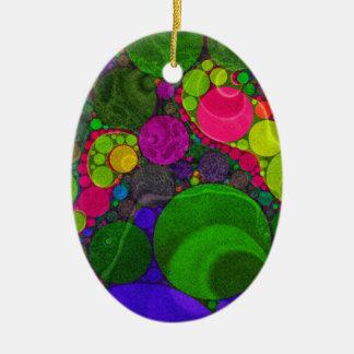 Pontos enormes abstratos fluorescentes ornamento