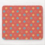 Pontos na laranja mouse pads