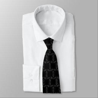 Pontos preto e branco gravata