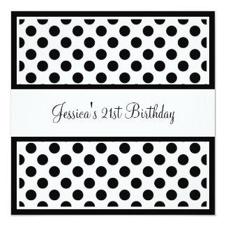Pontos pretos & brancos da festa de aniversário