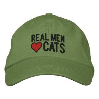 Pontos reais dos gatos do amor dos homens boné bordado