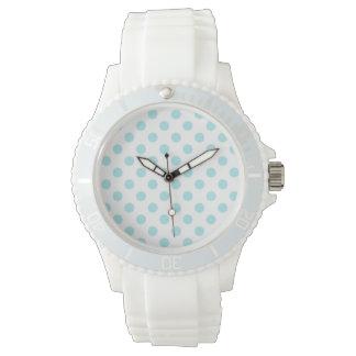 PONTOS: Relógio branco desportivo do silicone das