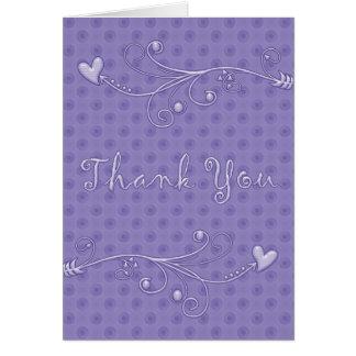 Pontos roxos: : Obrigado do desenhista você cartõe Cartão Comemorativo