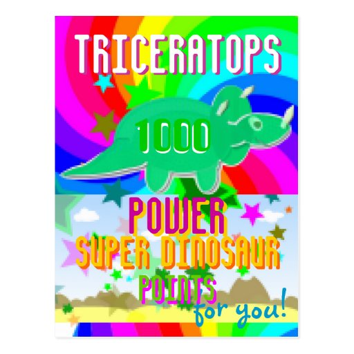 Pontos super de Dino do poder do Triceratops 1000  Cartões Postais