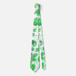 Pontos verdes afligidos gravata