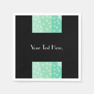 Pontos verdes e guardanapo de papel dos pontos