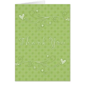 Pontos verdes: : Obrigado do desenhista você cartõ Cartão Comemorativo