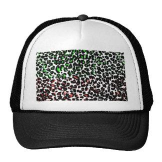 Pontos vermelhos e verdes do leopardo boné