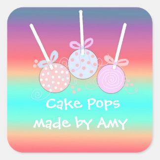 Pop animadores do bolo adesivo quadrado