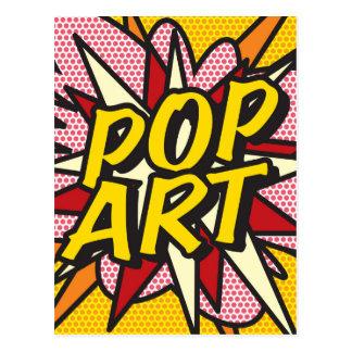 POP ART da banda desenhada Cartão Postal