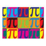 Pop art da matemática cartão postal