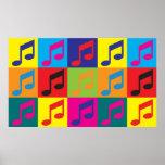 Pop art da música impressão
