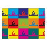 Pop art da natação cartões
