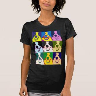 Pop art de border collie camiseta