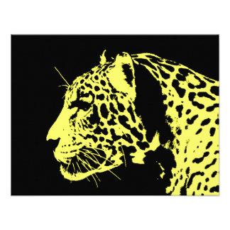 Pop art de Jaguar Convite Personalizados