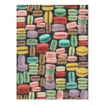 Pop art de Macarons do francês Cartão Postal