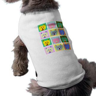 Pop art de Terrier branco de montanhas ocidentais Camisa Sem Mangas Para Cachorro