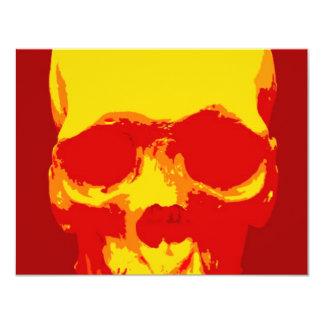 Pop art do crânio convite personalizados
