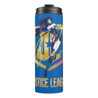 Pop art do logotipo da mulher maravilha JL da liga
