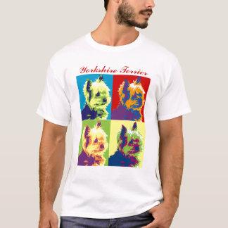 Pop art do yorkshire terrier camiseta