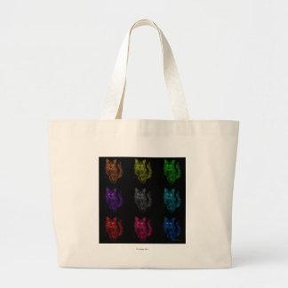 pop art feroz do gato bolsas para compras