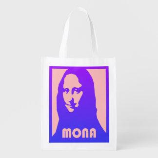 Pop art Mona Lisa Sacolas Ecológicas