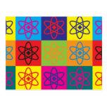 Pop art nuclear da medicina cartao postal