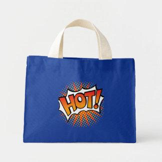 Pop art QUENTE! Design de texto Bolsa Tote Mini