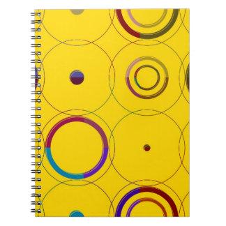 Pop art retro colorido do vintage cadernos