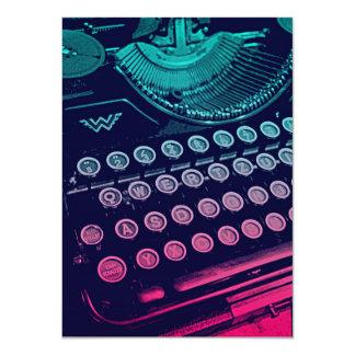 Pop art retro legal da máquina de escrever do convite 11.30 x 15.87cm