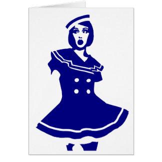 "Pop art - Seemannsbraut ""sexy"" marítimo Cartões"