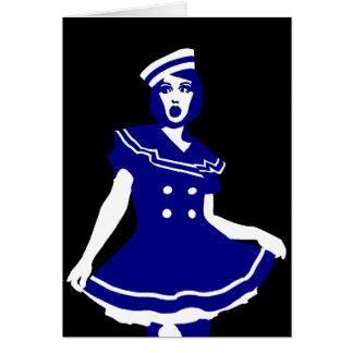 """Pop art - Seemannsbraut """"sexy"""" marítimo Cartão Comemorativo"""