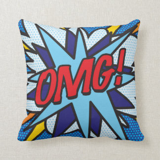 Pop art SPLAT da banda desenhada! OMG! Travesseiro