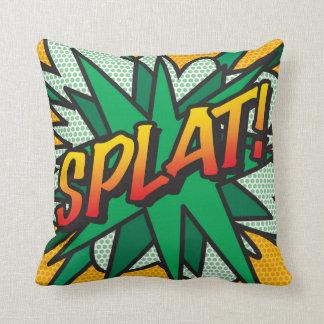 Pop art SPLAT da banda desenhada! Travesseiro De Decoração