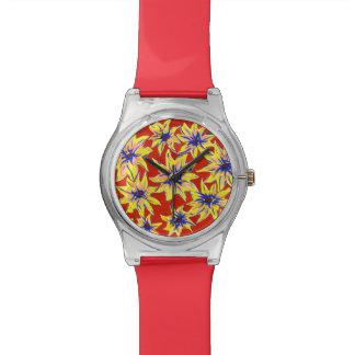 Pop art Watercolour relógio floral brilhante do 28