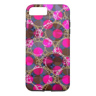 POP cor-de-rosa fluorescente Bling Capa iPhone 7 Plus