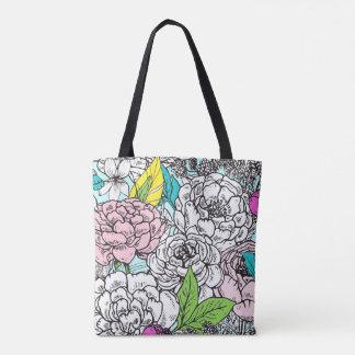Pop de floral bolsa tote