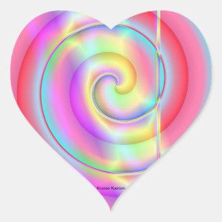 Pop do Lolly Adesivo Coração