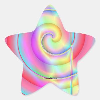 Pop do Lolly Adesivos Estrelas