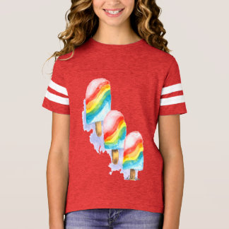 Popsicle colorido da surpresa do arco-íris camiseta