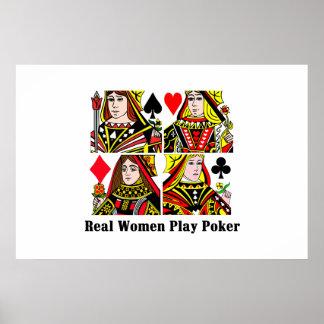 Póquer do jogo das mulheres reais poster