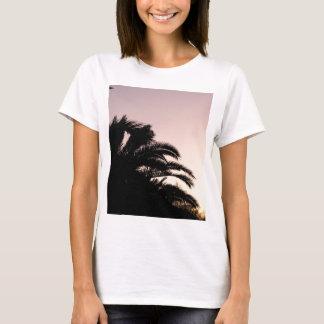 Por do sol #2 da palmeira camiseta