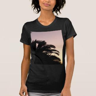 Por do sol 2 da palmeira camisetas