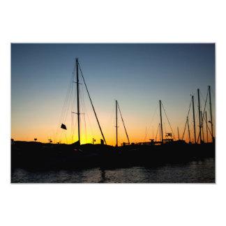Por do sol 2 do porto foto artes