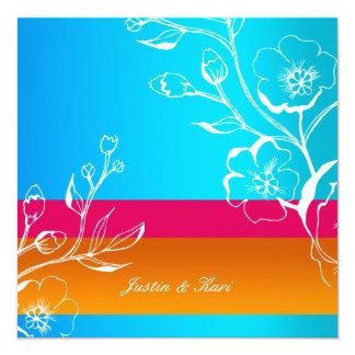 por do sol 311-Lush tropical Convite Quadrado 13.35 X 13.35cm